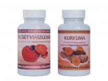 Izületi duó csomag - 1 db Ganoderma (334 mg) kapszula 90 db és 1 db Kurkuma (500 mg) kapszula 120 db
