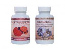 Vérnyomás optimum duó csomag - 1 db Ganoderma (334 mg) kapszula 90 db és 1 db Fokhagyma (500 mg) kapszula 120 db