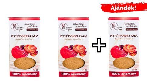 Ganoderma őrlemény 2*30g + 30 g ajándék (magyar termesztésből) INGYENES KISZÁLLÍTÁSSAL