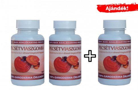 Ganoderma kapszula (334 mg) 2*90 db + 1*90 db ajándék (magyar termesztésből) INGYENES KISZÁLLÍTÁSSAL