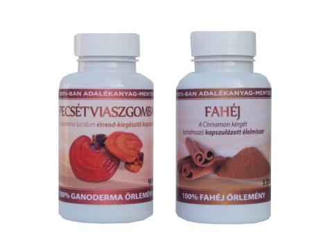 Cukorőr duó csomag - 1 db Ganoderma (334 mg) kapszula 90 db és 1 db Fahéj (500 mg) kapszula 120 db